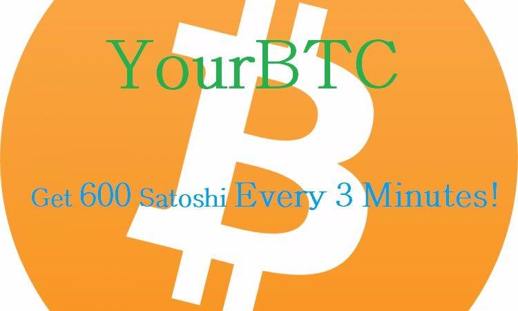 600 Satoshi Every 3 Minutes